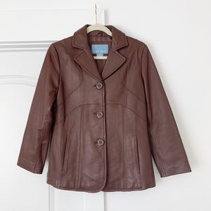Nine West Brown Leather Jacket
